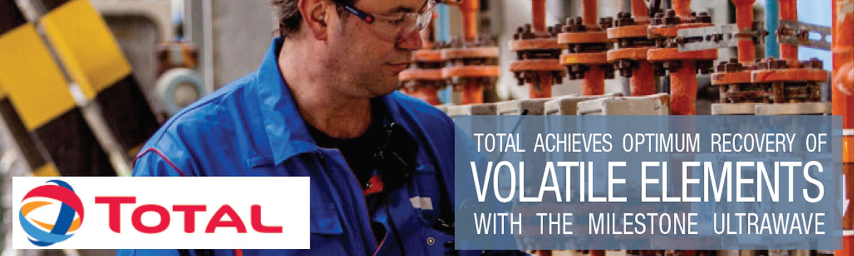 Discover how Total could achieve optimum recovery of volatile elements with the Milestone ultraWAVE